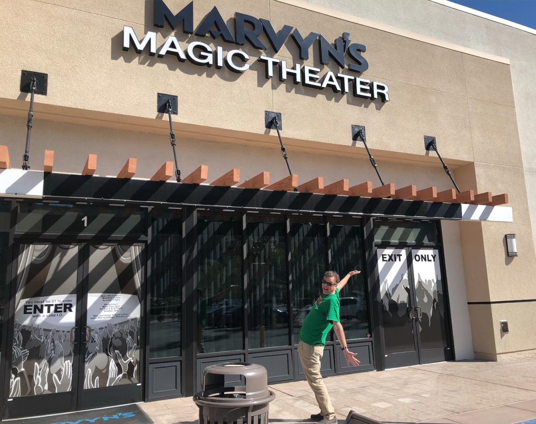 Matt DiSero outside Marvyns Magic Theatre