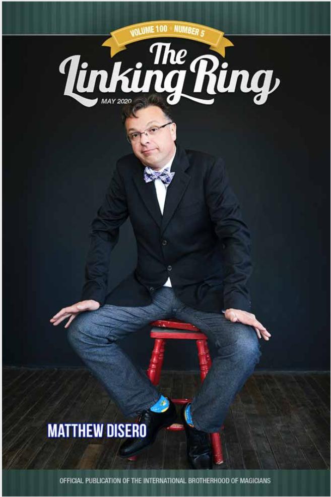 Matt DiSero Cover of Linking Ring Magazine